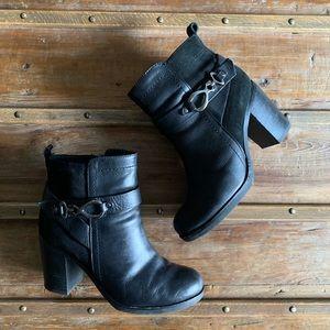 Geox Chunky Heeled Ankle Boot
